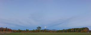 Muster Field Moonrise Panorama - Photography by Ken Schuster.