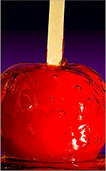 Image of candy apple by Ken Schuster