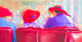Ladies With Hats - Photograph and painting by Ken Schuster.