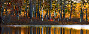 Reflections of Fall - Photograph and haiku by Ken Schuster.