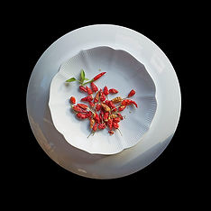 Peppers on a Plate - Photography and haiku by Ken Schuster.