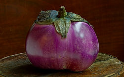 Eggplant - Photograph and haiku by Ken Schuster.