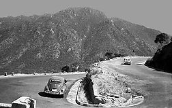 Massawa Road, Eritrea, day after driving side switched from left side to right. 1964. Photo by Sandee Schuster.
