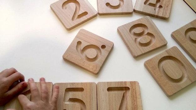 Тактильные плашки цифры 0 - 9