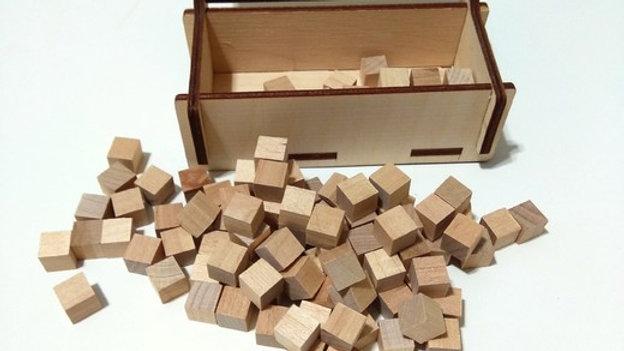 Коробочка с кубиками прямоугольная, 120 кубиков