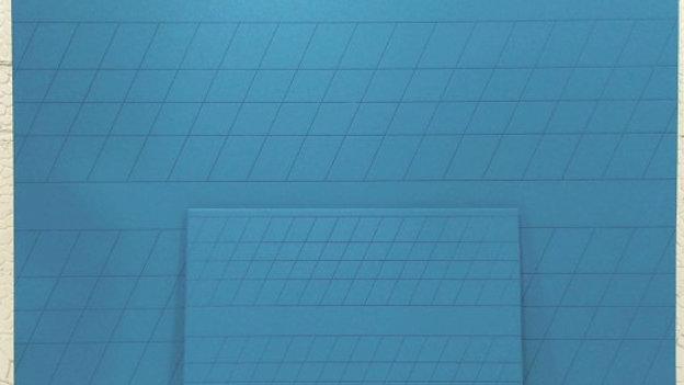 Меловая доска классная 90х60 укрупненная разлиновка, двустороняя