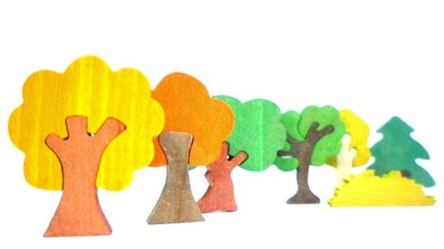Деревья России набор деревянных фигурок