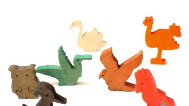 Птицы набор деревянных фигурок