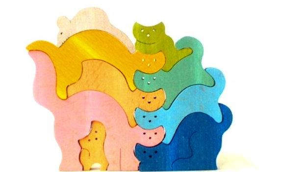 Кошки - мышка цветной пазл сортер