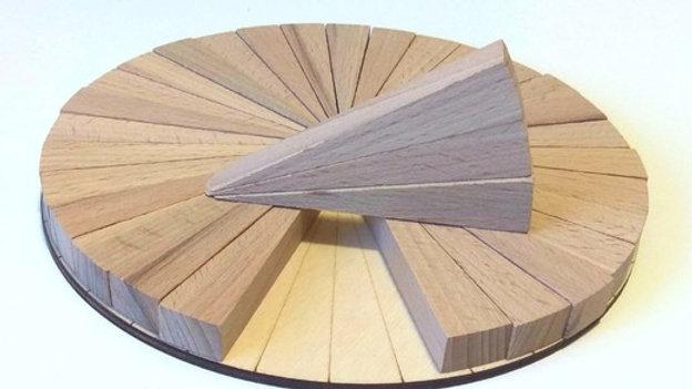 Доли круга из массива 32 части ( D20 см)
