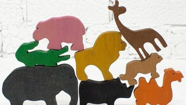 Животные Африки набор деревянных фигурок