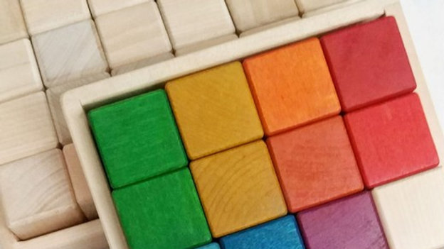 Набор кубиков 16 шт радужные