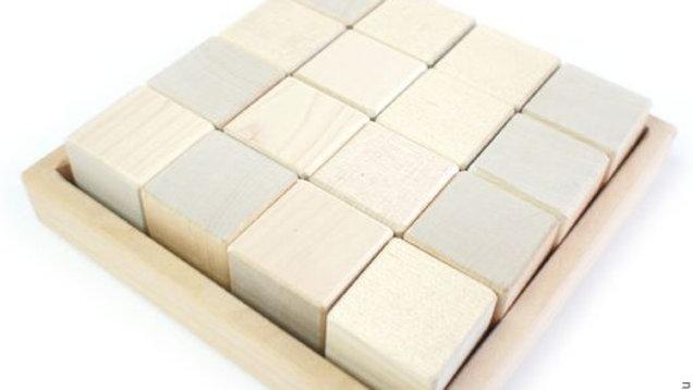Набор кубиков 16 шт без покраски