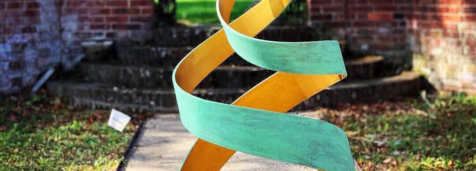 Verdigris & Gold Spiral