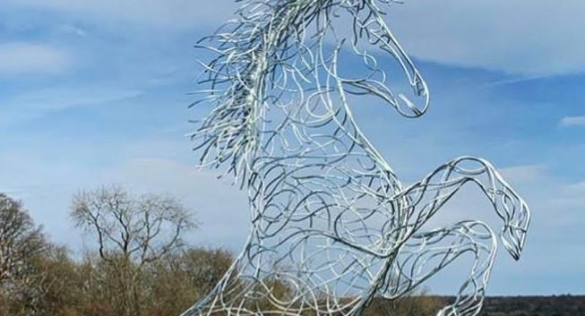 Rearing Horse Sculpture