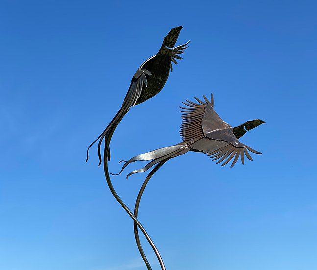 Life Size Brace of Pheasants Sculpture