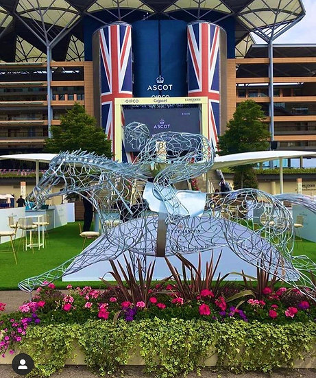 SOLD 'At Full Stretch' Horse Racing Sculpture