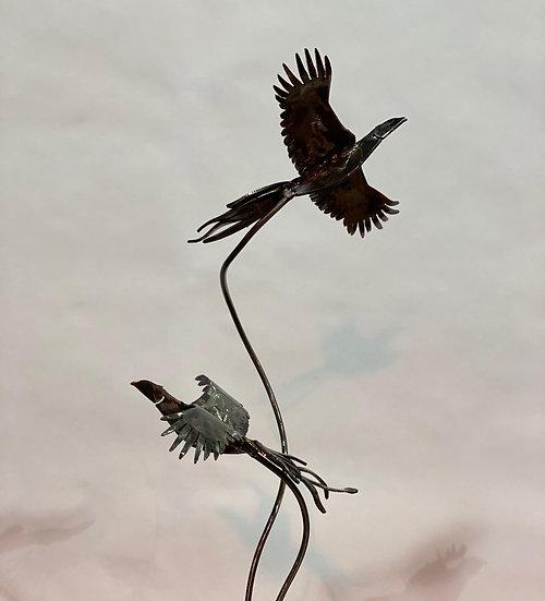 Brace Of Pheasants Sculpture