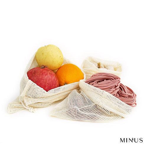 Organic Cotton Mesh Bags Set of Three
