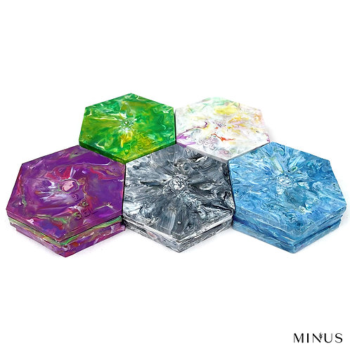 Recycled Plastic Coaster Set of 4