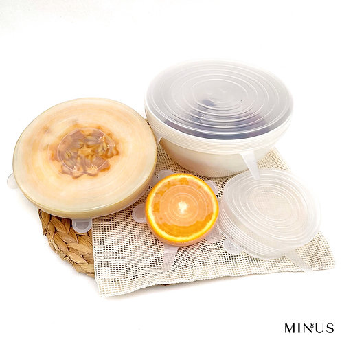 Silicone Food Covers Set of 6 Food Wraps