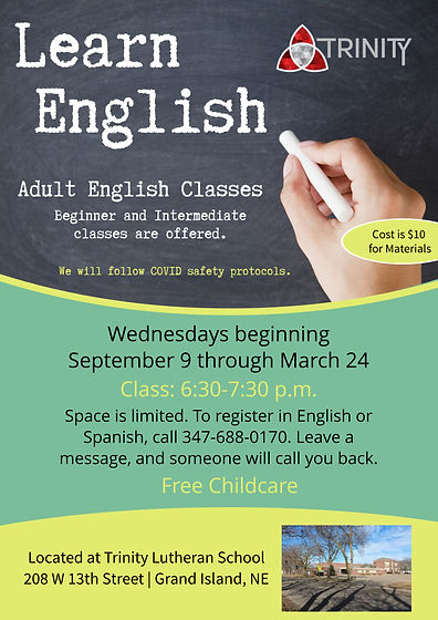Copy of English lessons template flyer (