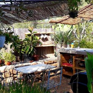 terrazza con angolo cucina e BBQ