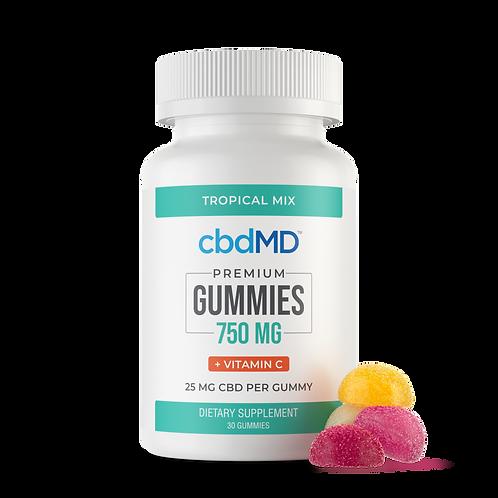 CBD Gummies 750mg w/ Vitamin C (Tropical Mix - 30)