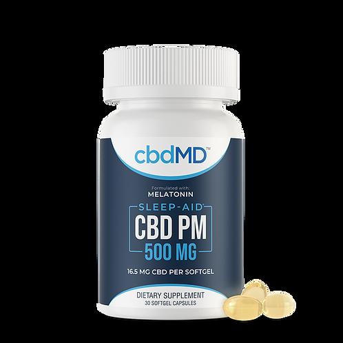 CBD PM Capsules 500mg (30 Soft Gels)
