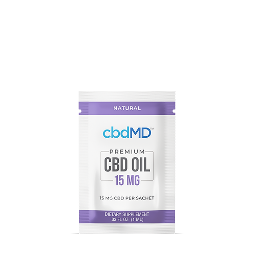 CBD Oil 15mg Sample Packs (Natural - 7)