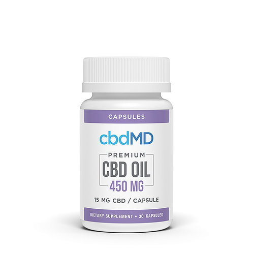 CBD Oil Capsules 450mg (30 Soft Gels)
