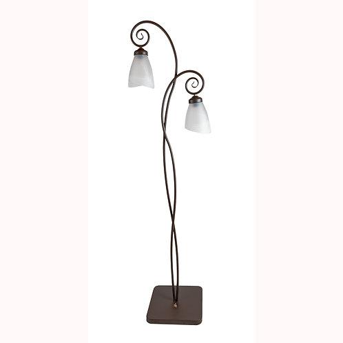 Lámpara de pie dos luces