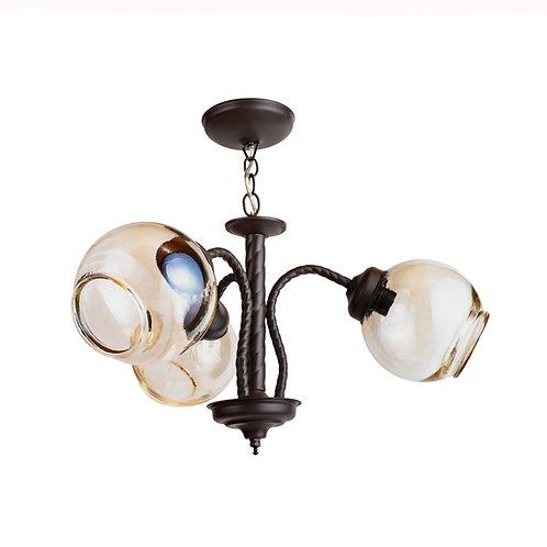 Lámpara de techo Forja trenzado 3 luces