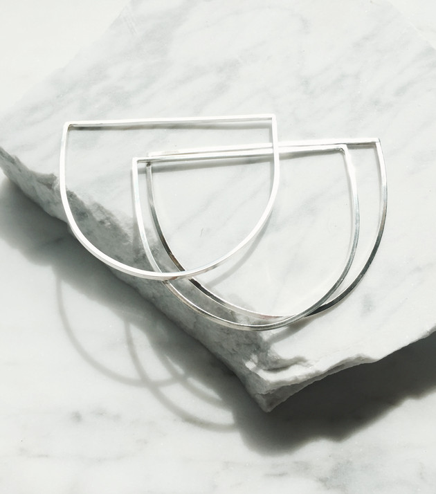 Hard at work getting lots of new silver pieces ready for the Makers Market next Saturday! Stop by Mo
