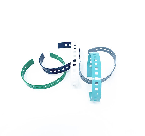 Skinny Perforated Color Cuff