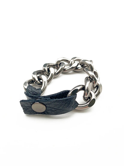 Gunmetal Chain Cuff