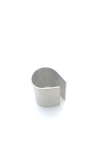 sculptural Argentium sterling silver ring