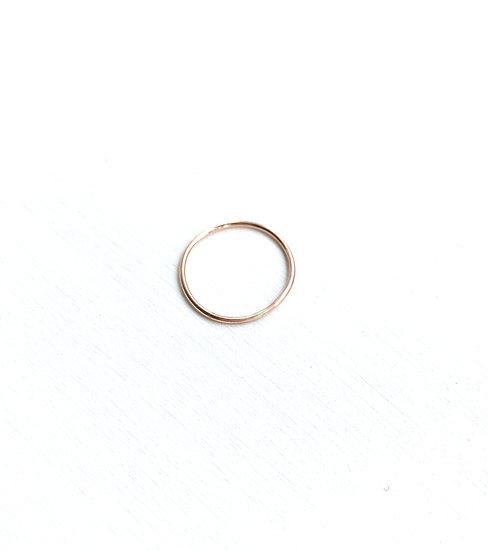 Pink gold 14k ring