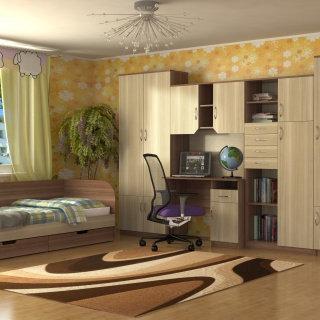 Набор корпусной мебели для детской комнаты «Юниор»