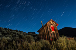 Outhouse under the stars