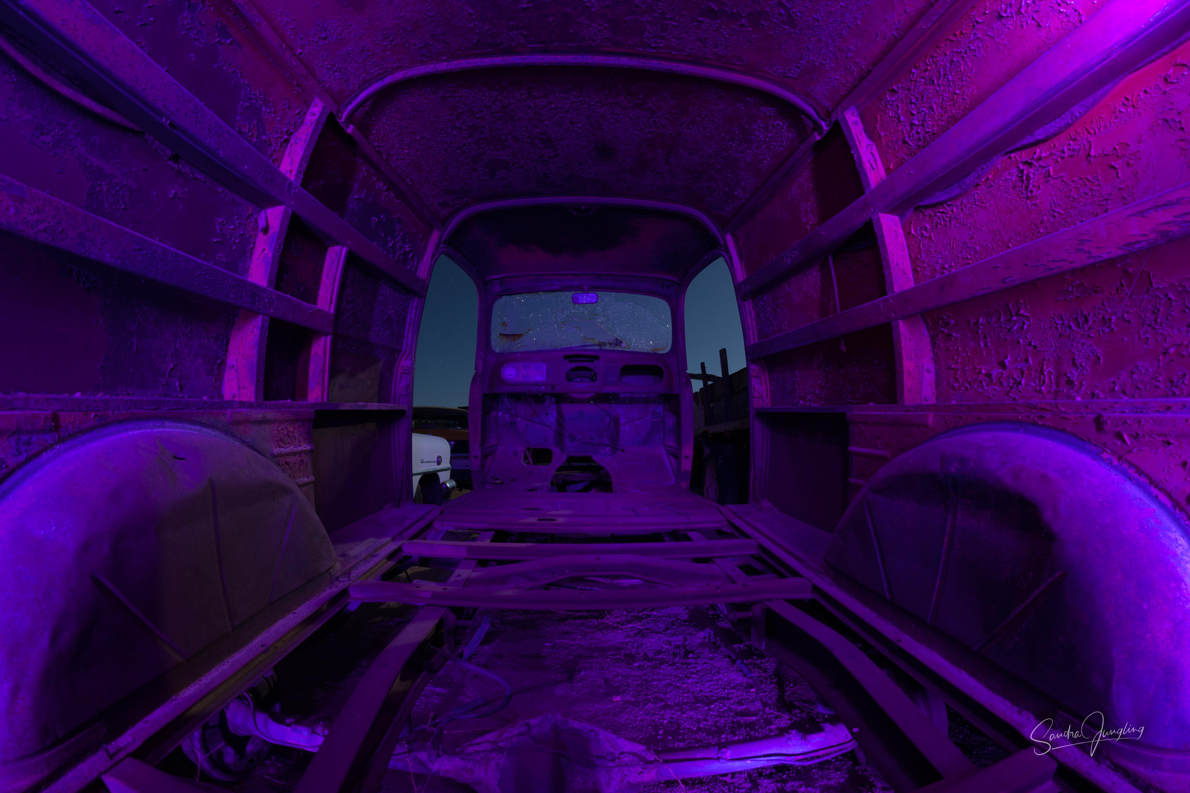 Purple Party Panel Van