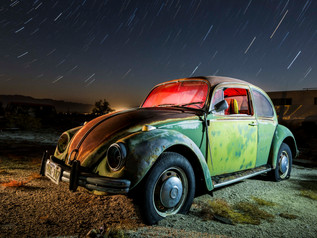 Green VW Bug