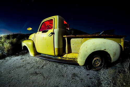 Full Speed ahead in a Yellow Chevy Truck