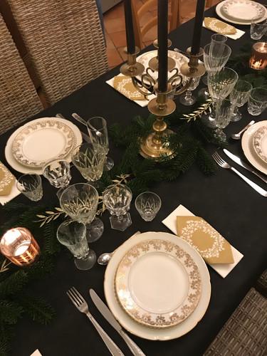 déco table nouvel an
