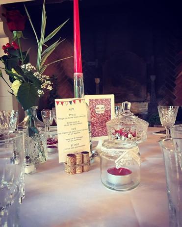 centre de table mariage guinguette
