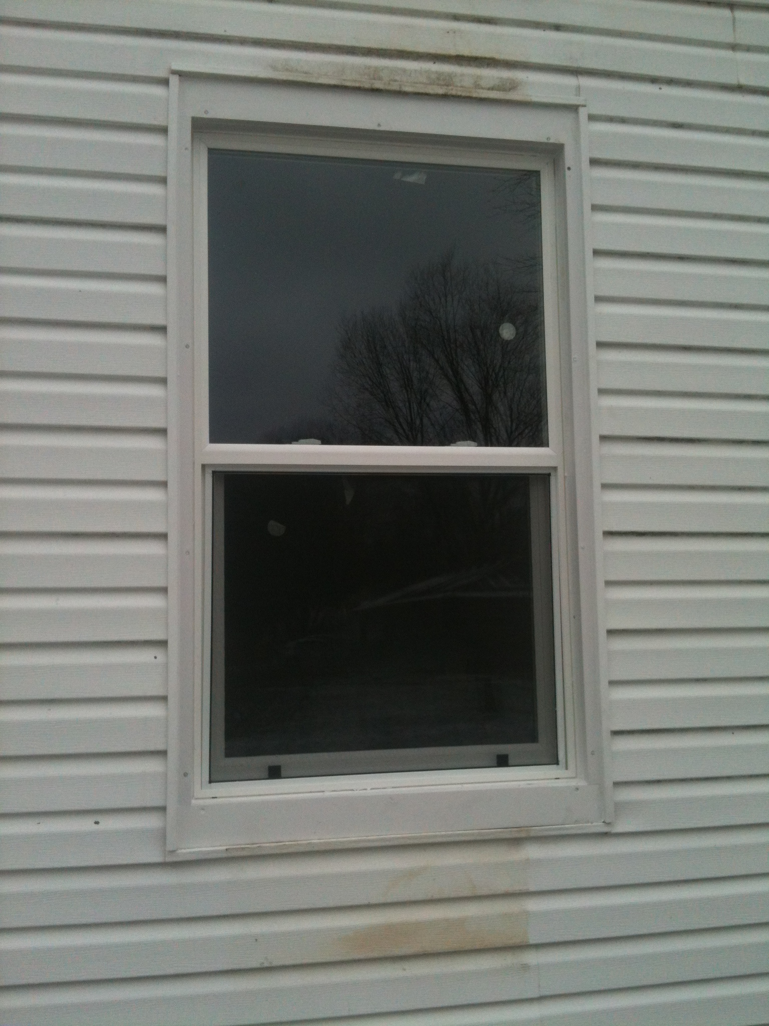 Aftershot of a window installation