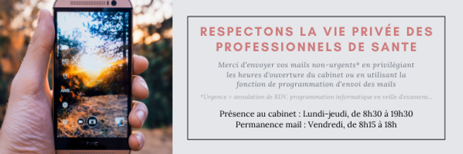 Respectons la vie privée des professionn