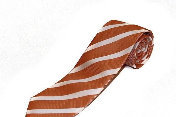 Burnt Orange Candy Stripe
