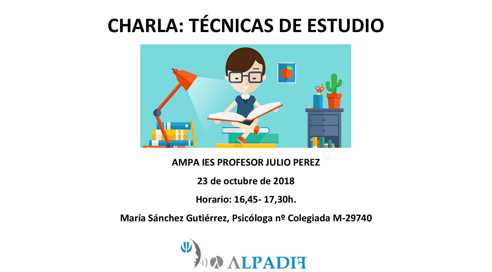 Cartel_charla_Técnicas_de_Estudio_2018_A