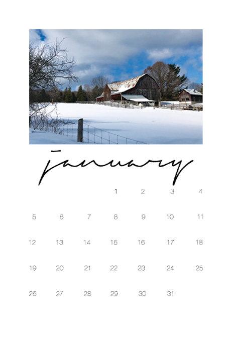 2020 12-Month Desktop Calendar